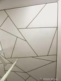 nailhead trim on tray ceiling I Simple Details | Walls ...