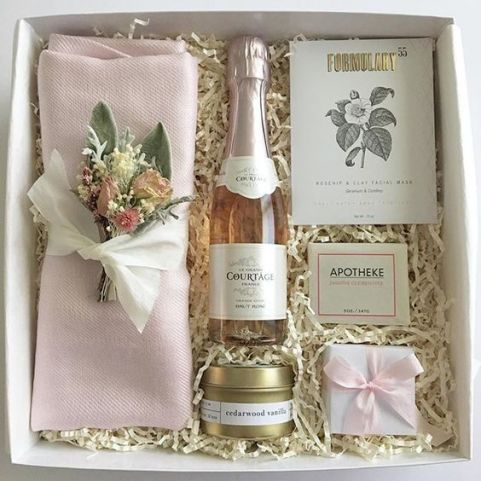 Bridesmaids gifts. Bridesmaid gift box ideas: