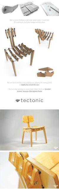 Ergonomic Plywood Chair by Eddie Licitra, via Behance ...