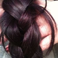manic panic purple haze on dark hair / bunnylake @ LHC ...