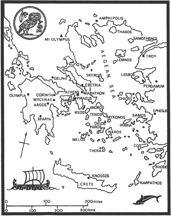 ancient greece map for coloring the Greeks copy their