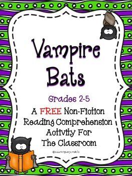 stellaluna venn diagram activity three way toggle switch wiring vampire bats - non-fiction reading comprehension for grades 2 5 (free) | halloween ...