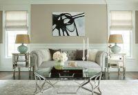 Chic tan & seafoam green living room design with tan beige ...