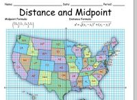 Math Distance Formula Worksheets - geometry worksheets for ...