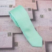Mint Mens Tie. Pastel Mint Green Skinny Tie Wedding Ties ...