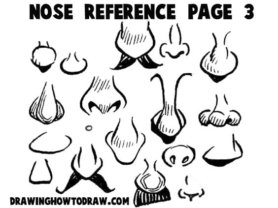 Step noses reference 3 300x225 Cartoon Noses Reference