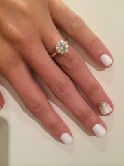 yellow gold solitaire engagement