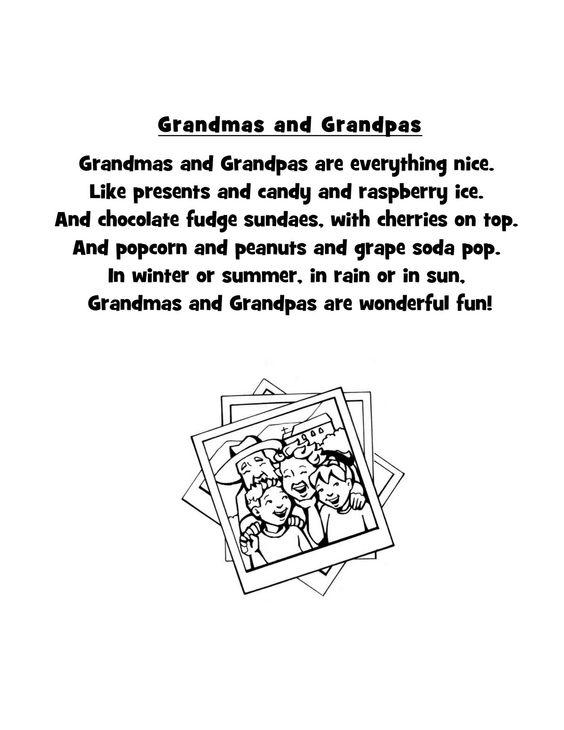 Crafts, Poem and Grandparents on Pinterest
