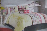 Roxy Bianca Duvet Sham Set Twin Pink Green White NEW ...