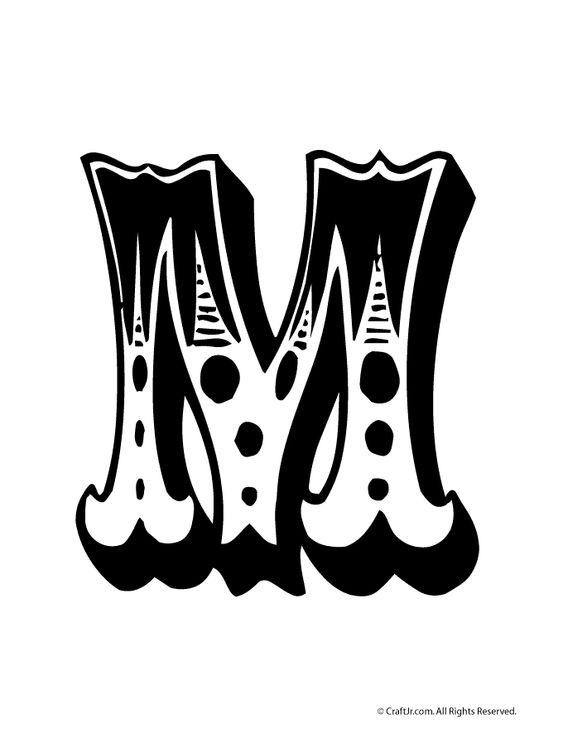 Circus Bubble Letters to Print Circus Bubble Letter M