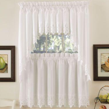 Hanna Kitchen Curtains found at JCPenney  bathroom