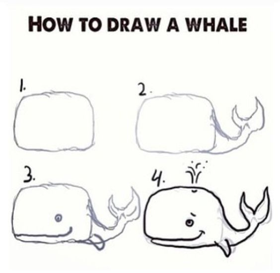 Whales, Doodles and Cute whales on Pinterest