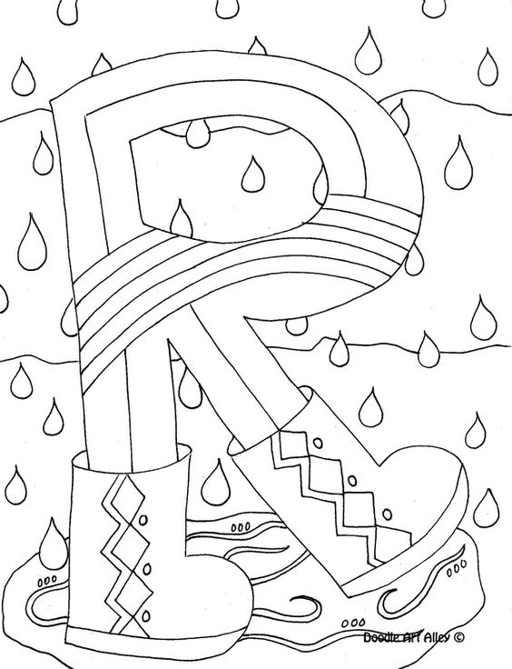 Alphabet, Fun coloring pages and Coloring pages on Pinterest