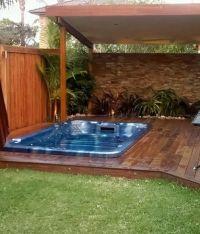 small backyard tropical oasis | Tropical Garden Pool ...