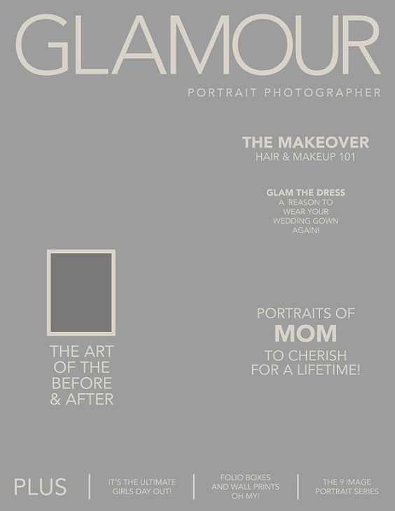 Photoshop: Magazine Front Cover Template (OPTION 1