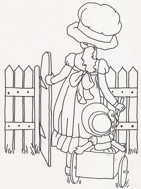 Picket fences, Embroidery patterns and Little girls on