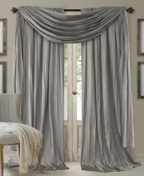 Scarf valance Curtain panels and Valances on Pinterest