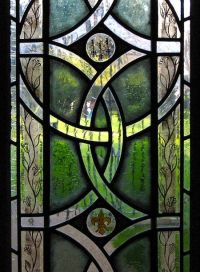 Celtic beautiful stained glass windows Photo