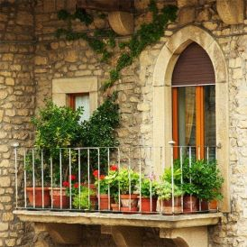 small balcony design ideas lush planting balcony flower pots planters