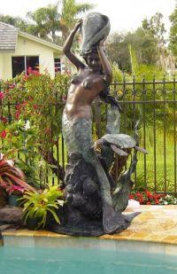 Mermaid fountain...   Water fountains   Pinterest ...