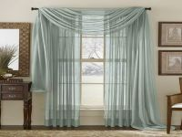 Curtain Ideas For Large Windows | ... Pattern : Grey Sheer ...