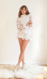 Crochet Lace Bridal Reception Romper for the Untradtional ...