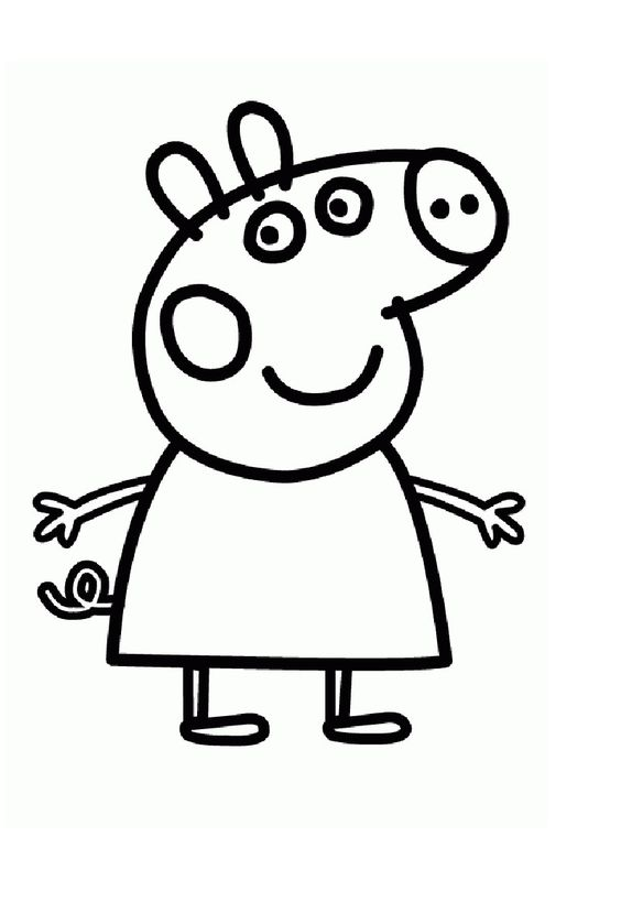 Coloring, Peppa pig and Dibujo on Pinterest