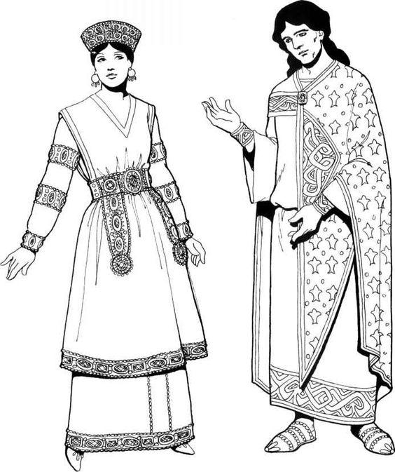 Byzantine Clothing Byzantine Empire ancient look woman