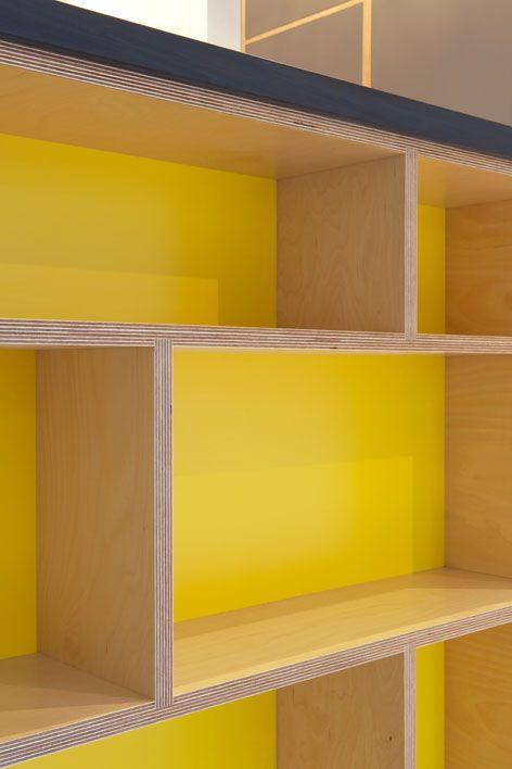 Desk and Storage Piece Inspiration Love a bit of colour