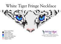 White Tiger Eyes Fringe Necklace for Downloadable Pattern