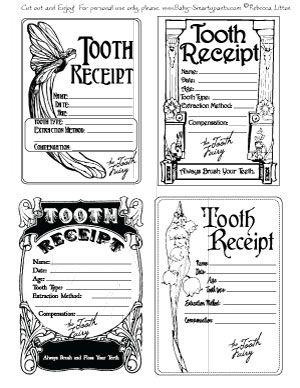 Tooth fairy, Tooth fairy receipt and Fairies on Pinterest
