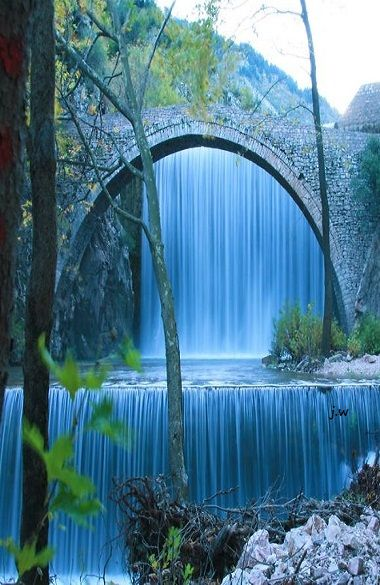 Bridge of Palaiokaria Waterfall ~ Kalambaka, Greece: