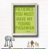 YODA QUOTE - Star Wars Wall Art -Star Wars Nursery- Star ...