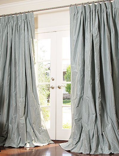 Silk taffeta Silk and Silk drapes on Pinterest