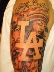 superb gangsta tattoos sleeve