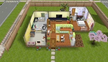 sims houses play freeplay yellow designs plans themed cool cc uploaded user