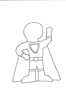 Make your own superhero and have kids write what their
