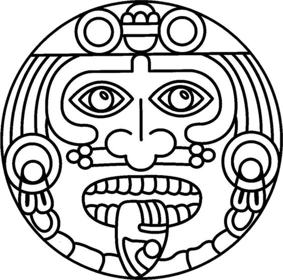 Aztec, Coloring and Colouring pages on Pinterest