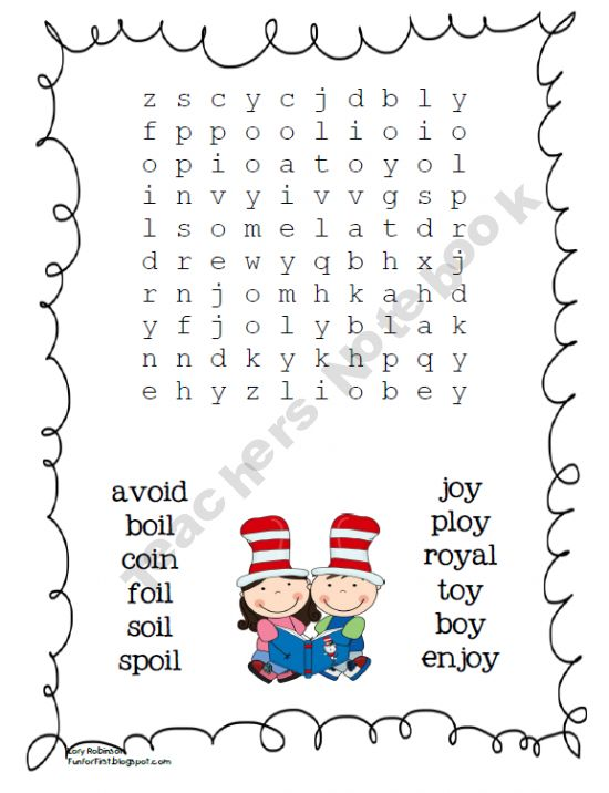 oi and oy word search- I do this every week with spelling