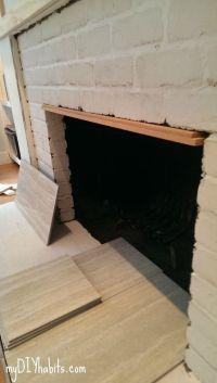 DIY Brick Fireplace Refacing   Bricks, DIY and crafts and ...