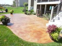 Staining concrete patios | Do it yourself..... | Pinterest ...