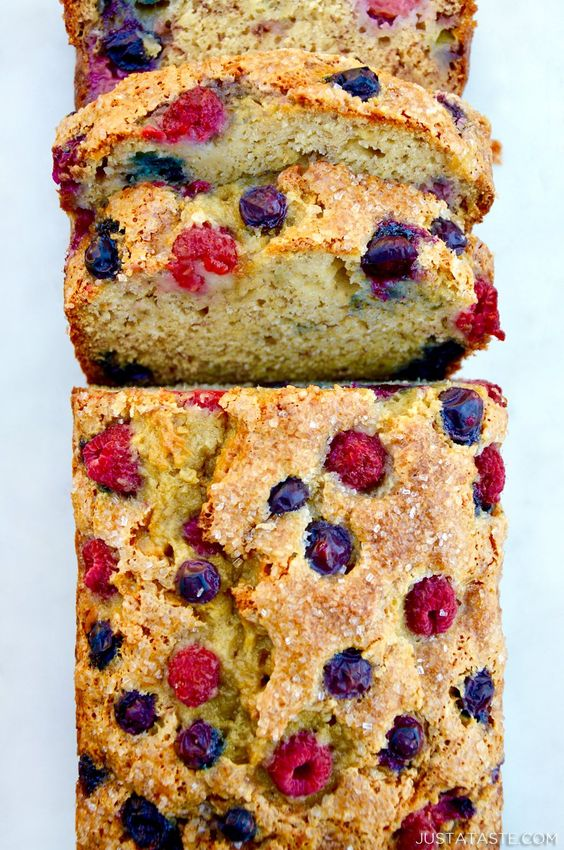 Mixed Berry Banana Bread Recipe | Just a Taste