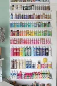 craft room tour | Crafts, Wall ideas and Bottle