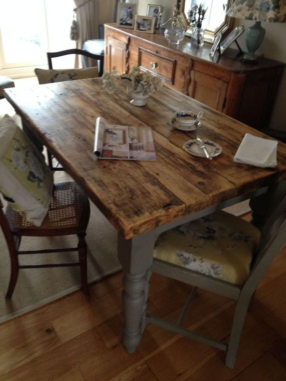 Scaffold boards Kitchen tables and Loft on Pinterest