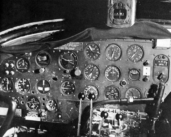 Cockpit Instrument Panel In The Martin B 26 Marauder