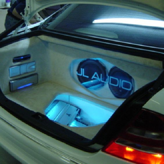 Mercedes benz custom car stereo trunk install JL Audio ...