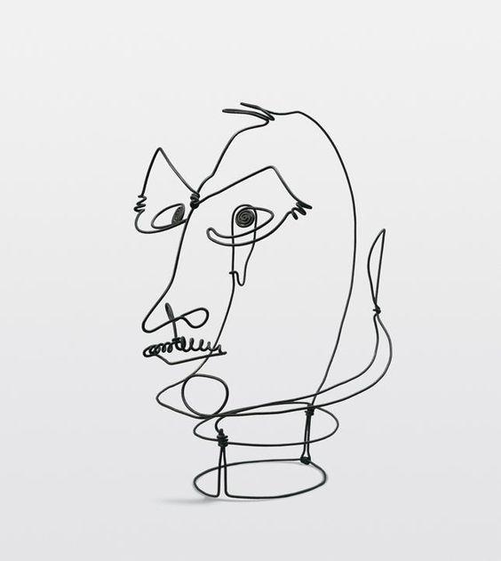 Alexander Calder. 'Frank Crowninshield.' Wire. 1928. (yes