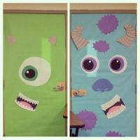 Door decorating: monsters Inc for Halloween