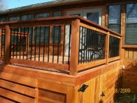 wood and iron railing decks