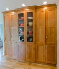 Kitchen Pantry - Large pantry cabinet in natural cherry ...